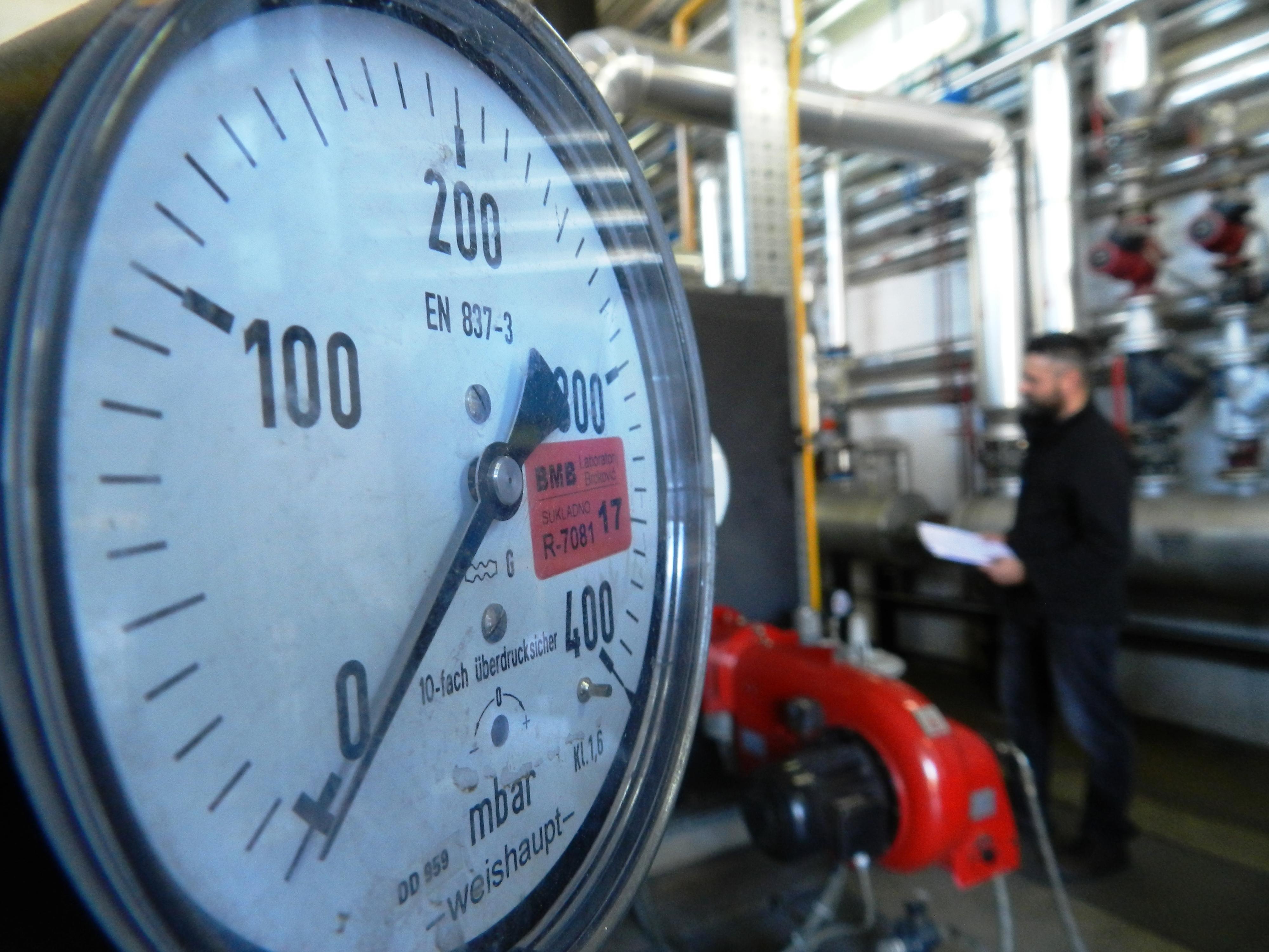 ispitivanje plinske instalacije - kotlovnica